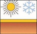 Цаг уурын онцгой нөхцөл ба -40 өөс   90С хэмд тэсвэртэй. Нарны энергийг ойлгосноор хучилтын температурыг бууруулна.